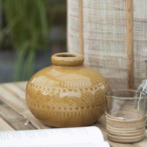 Vase Keramik beige