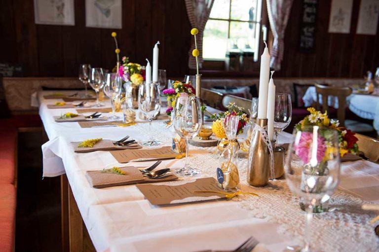 Hochzeit – Mein Laden / Tischdeko